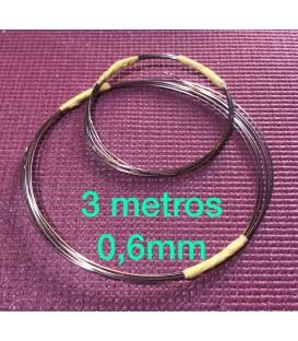 Alambre inox 0.6mm rollo 3 metros