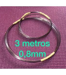 Alambre inox 0.8mm rollo 3 metros