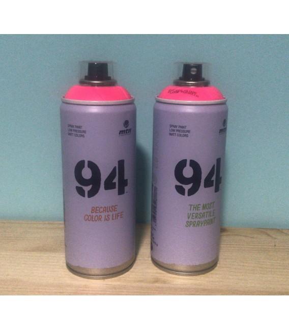 Pintura spray Montana 94 400ml rosa flúor.