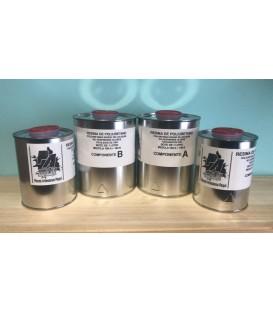 Resina de poliuretano (500gr A + 500gr B)
