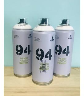 Pintura spray Montana 94 400ml blanco.