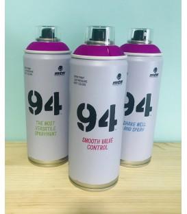 Pintura spray Montana 94 400ml violeta flúor.
