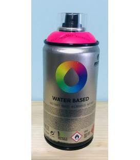 Pintura spray Montana base de agua Rosa flúor.