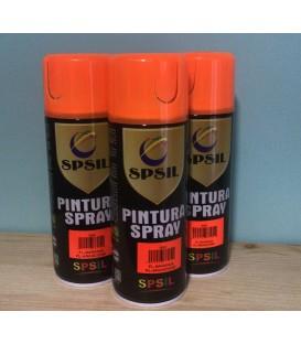 Pintura spray SPSIL 400ml naranja flúor