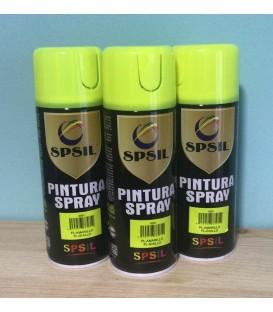 Pintura spray SPSIL 400ml amarillo flúor