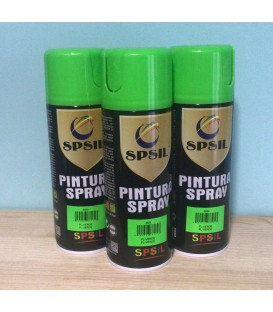 Pintura spray SPSIL 400ml verde flúor