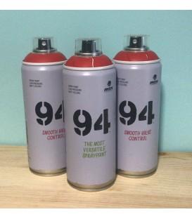 Pintura spray Montana 94 400ml rojo vivo.