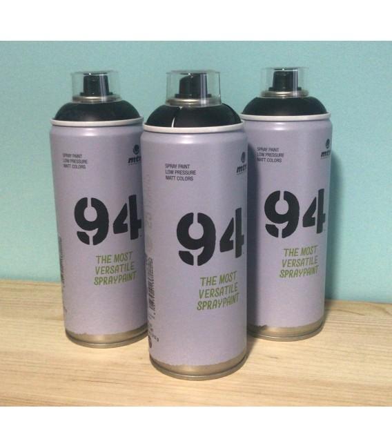 Pintura spray Montana 94 400ml negro mate.