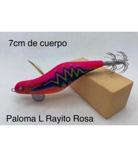 Pez artesano Paloma L 7cm Rayo rosa.