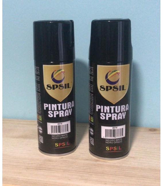 Pintura spray SPSIL 200ml negro mate
